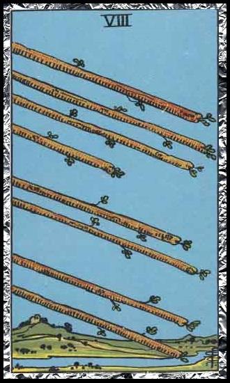 Eight wands